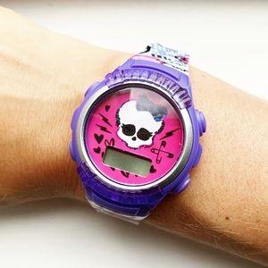Pink & purple Girls' Monster High skull watch